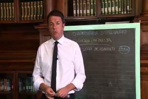 """Scuola, messaggio video di Renzi: """"Bene se ne parli ma no a boicottaggi"""""""