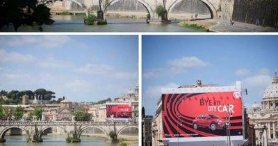 """Bye Bye"""" alla mega pubblicità della Fiat che oscurava San ..."""