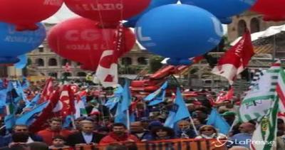 Roma, sindacati in piazza contro politiche del sindaco ...