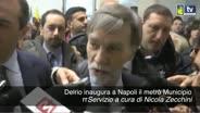 Delrio inaugura a Napoli il metrò Municipio