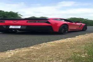 Pilota imbranato su una Corvette nuova fiammante, il ...