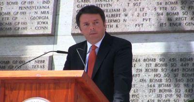 Renzi al Memorial day: grazie a chi è morto per la ...