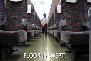 Pulire un treno in soli 7 minuti è possibile se ti trovi ...
