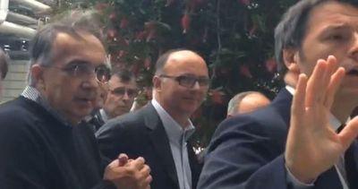 Renzi e Marchionne visitano stabilimento Fiat-Chrysler di ...