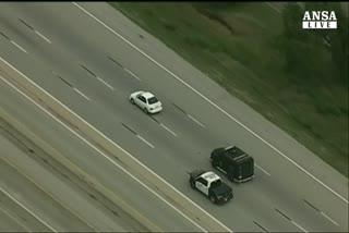 Spettacolare fuga sulle strade del Texas
