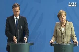Missione Cameron, Merkel prudente su riforma trattati Ue    ...