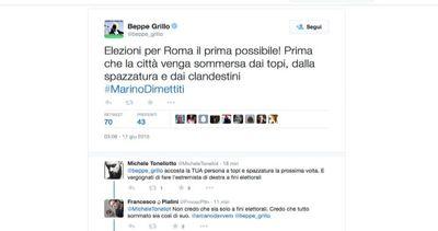 Grillo: Roma sommersa da topi, spazzatura e clandestini