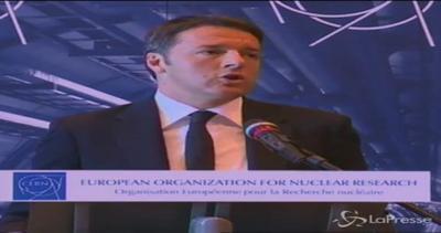 Renzi al Cern: Non si può trattare un grande ente di ...