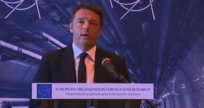 Matteo Renzi al Cern di Ginevra: qui sta l'Europa che ci ...