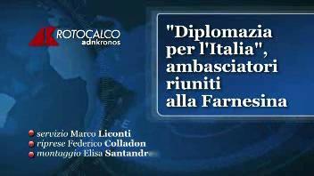 """""""Diplomazia per l'Italia"""", ambasciatori riuniti alla ..."""
