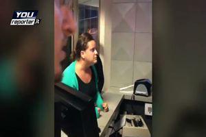 Fiumicino: le urla di una donna per il volo cancellato
