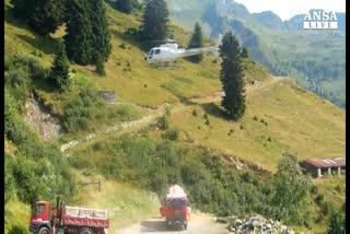 Elicottero caduto: recuperate le 3 vittime ai piedi vetta