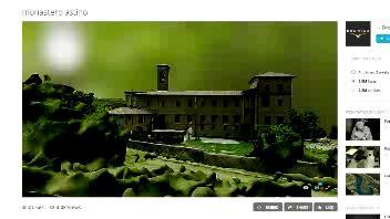 Il monastero visto dal drone