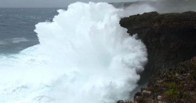 Il tifone Goni si avvicina alla coste meridionali del ...