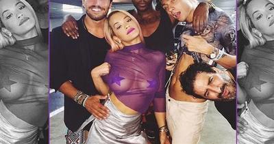 Rita Ora super sexy, trasparenze vincenti su Instagram