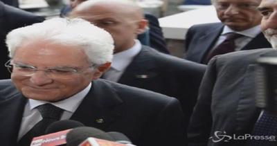 Mattarella emozionato arriva a Venezia per l'apertura della ...