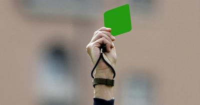 Calcio, arriva il cartellino verde