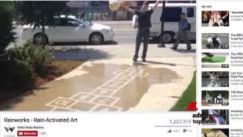 I graffiti  che si 'attivano' con la pioggia