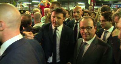 Modena, Renzi porta Hollande alla alla festa delll