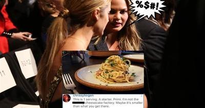 A cena dalla modella, la porzione è troppo piccola?