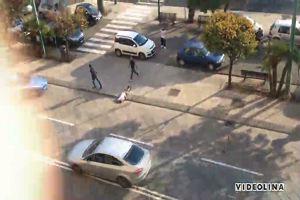 Cagliari: aggressione e arresto in diretta