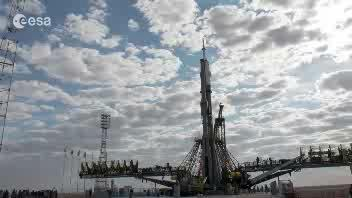 Il timelapse della Soyuz