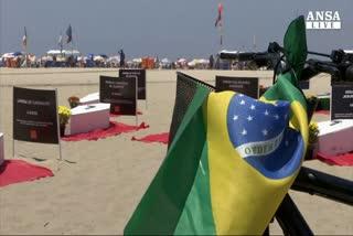 Tombe sulla spiaggia di Rio contro morti bianche