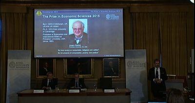Il Nobel per l'Economia 2015 allo scozzese Angus Deaton