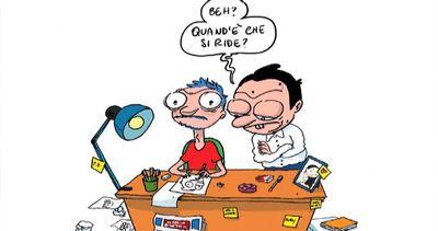 """Il vignettista del """"Fatto quotidiano"""": disegno Renzi mio ..."""