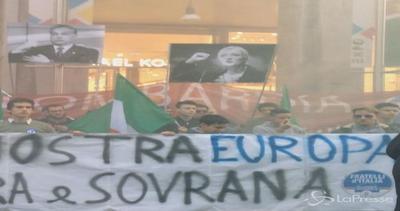 Milano, manifestazione Fdi: Nostra Europa libera e sovrana