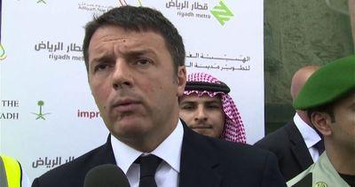 """Renzi a Riad al cantiere metro: """"Siamo un riferimento nel mondo"""""""