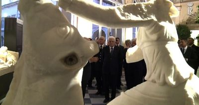 Mattarella inaugura la mostra sulle opere trafugate e ...