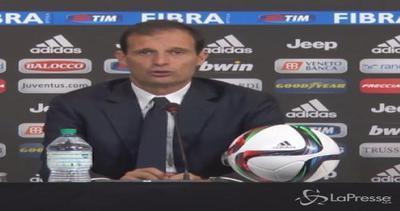"""Juventus: Allegri, """"Siamo contenti, ma ci vuole pazienza"""""""