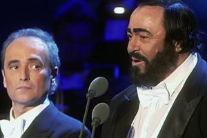 Pavarotti, Domingo e Carreras nel concerto di Natale - ...