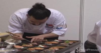 Concorso internazionale di sushi: vince uno chef giapponese