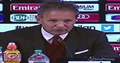 """Milan, Mihajlovic: """"Proseguiamo con la media di due punti a ..."""